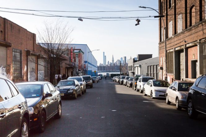 Street outside the Wythe Hotel for an article on event photography preparation
