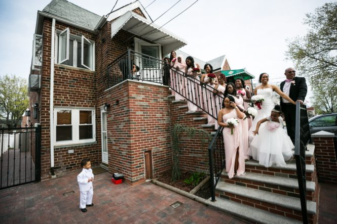 Family portraits before a Glen Terrace wedding