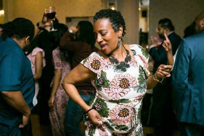 Guest dancing at a Glen Terrace wedding