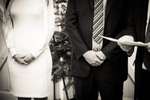 Hands of the bride and groom for an article on the top fears about wedding photographers