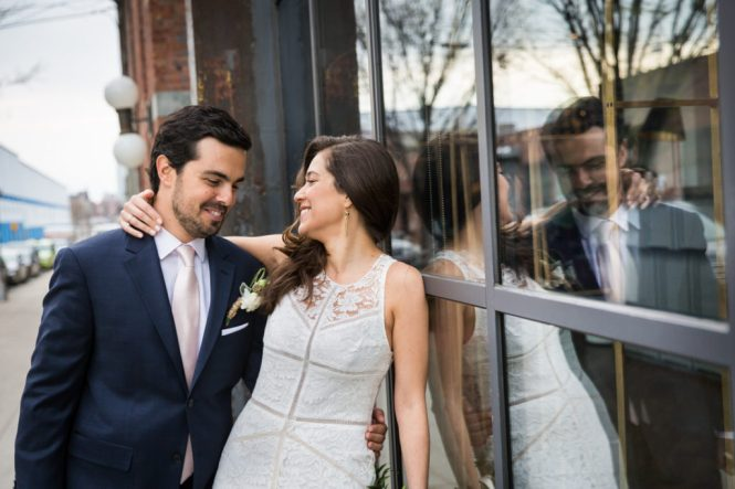 Bride and groom portraits at a Wythe Hotel wedding