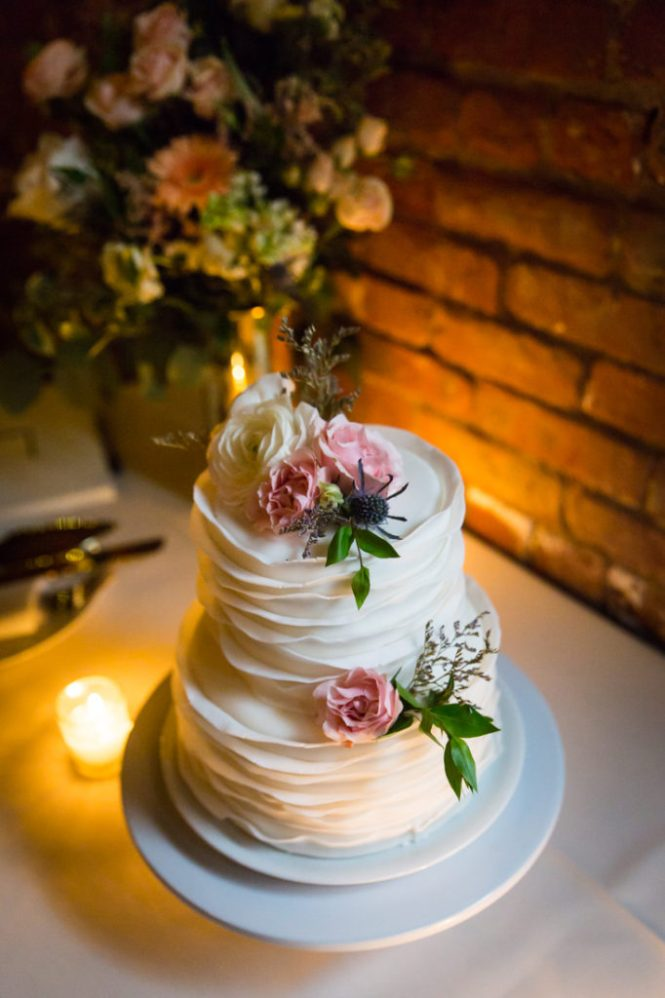Cake at a Wythe Hotel wedding