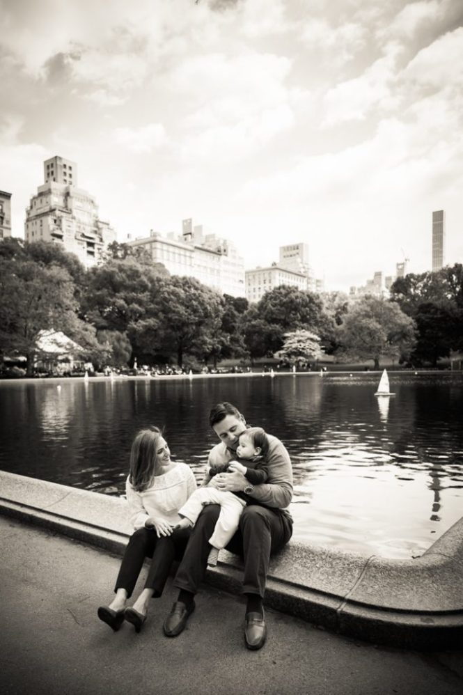 First birthday portrait in Central Park