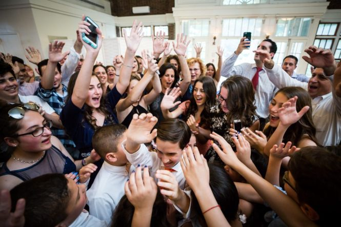Hora dance by bar mitzvah photographer, Kelly Williams