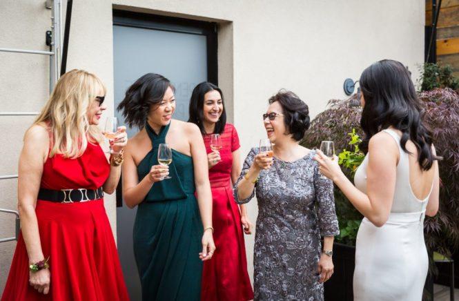 Toasts before a SoHo wedding