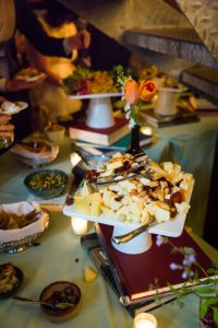 Food at a SoHo wedding
