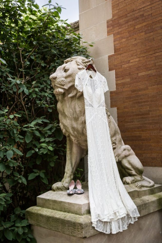 Wedding dress for a Bronx Zoo wedding