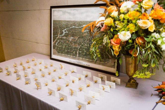 Escort cards for a Bronx Zoo wedding