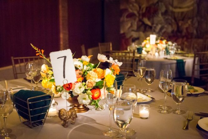 Tablescape for a Bronx Zoo wedding