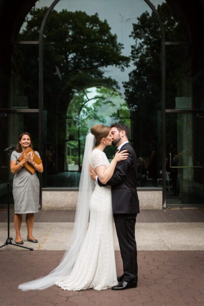Ceremony at a Bronx Zoo wedding