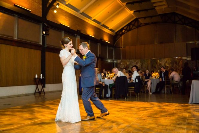 Father-daughter dance at a Bronx Zoo wedding