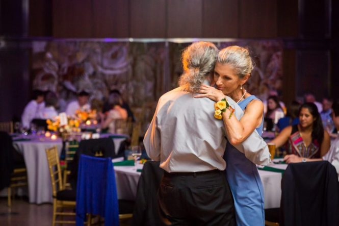 Guests dancing at a Bronx Zoo wedding