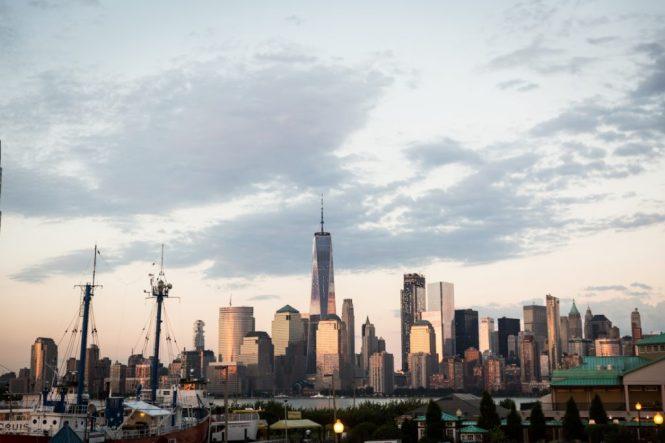 NYC skyline at a Maritime Parc wedding