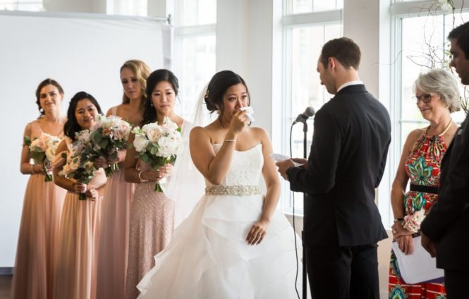 Ceremony at a Maritime Parc wedding
