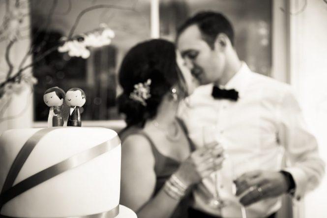 Cake cutting at a Maritime Parc wedding