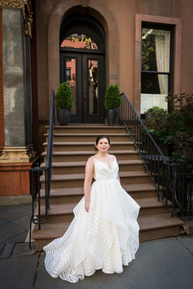 Bride portrait before a Brooklyn Historical Society wedding