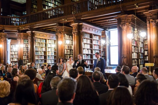 Quaker-style ceremony at a Brooklyn Historical Society wedding