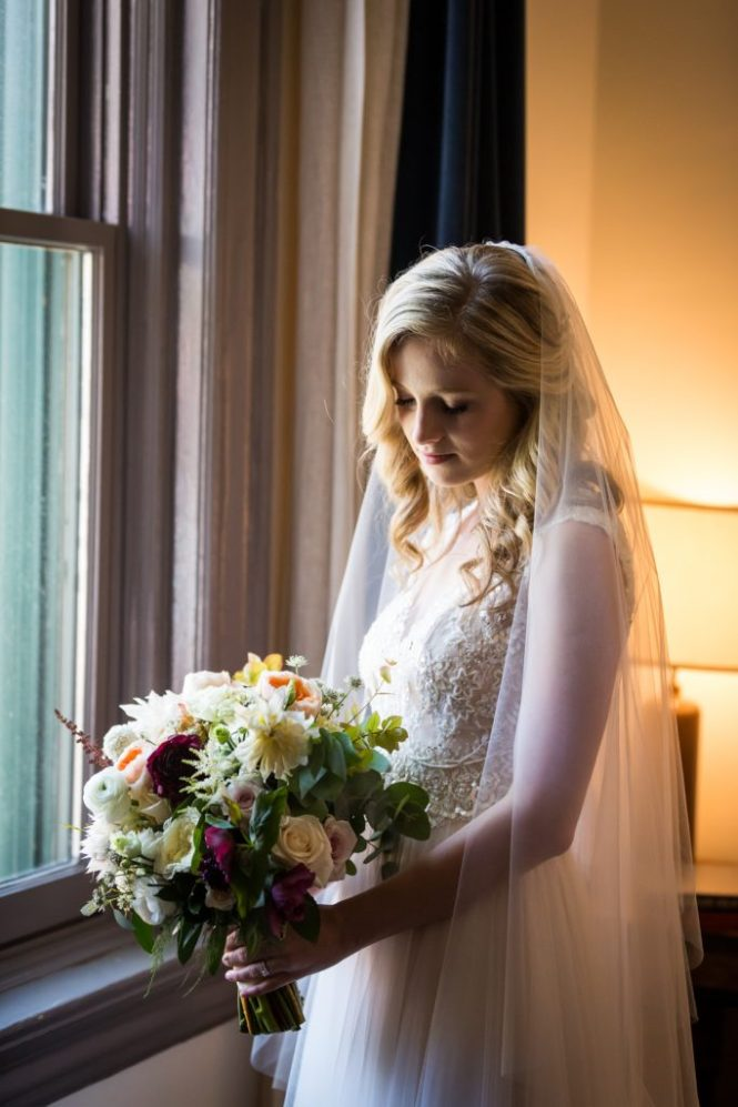 Bridal portrait before a Gallow Green wedding