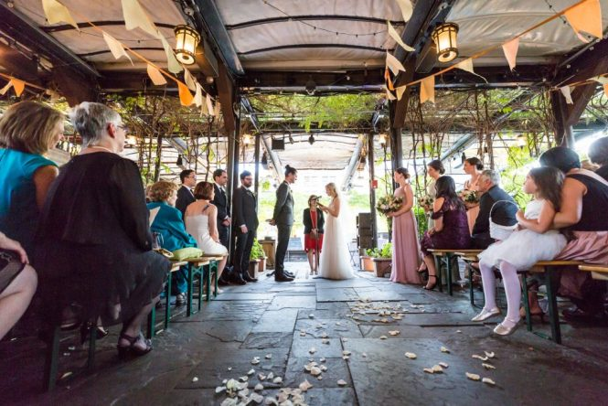 Ceremony at a Gallow Green wedding