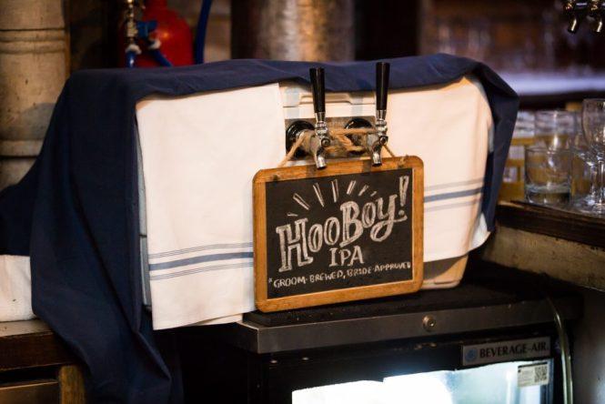 Craft beer at at a Gallow Green wedding
