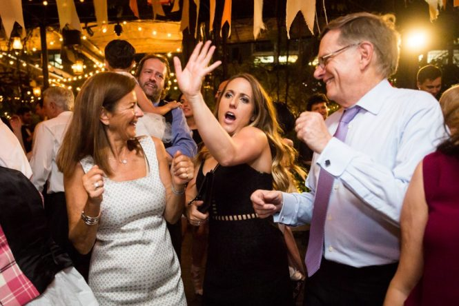 Guests dancing at at a Gallow Green wedding