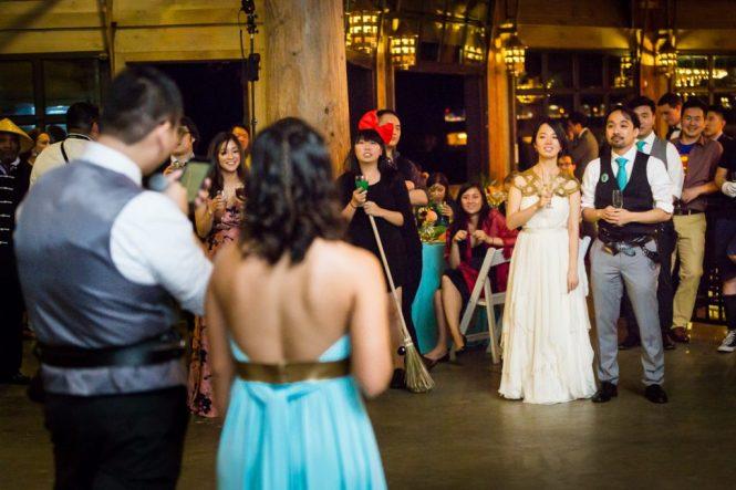 Toasts at a Bear Mountain Carousel wedding