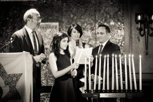 Candle lighting ceremony at a bat mitzvah for an article on 'How to Find a Venue'