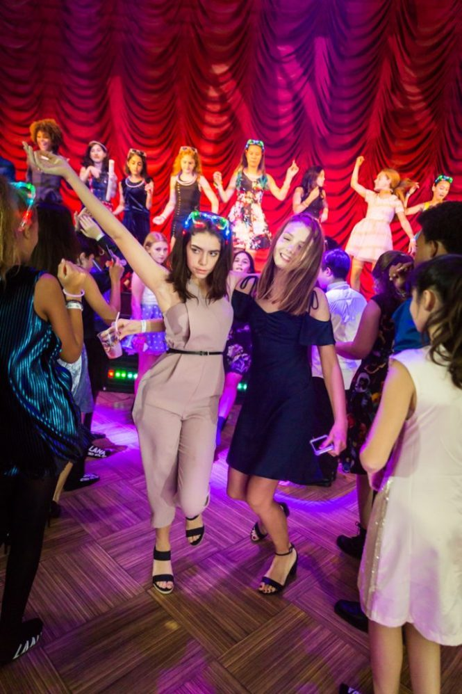 Kids dancing at a bat mitzvah for an article on 'How to Find a Venue'