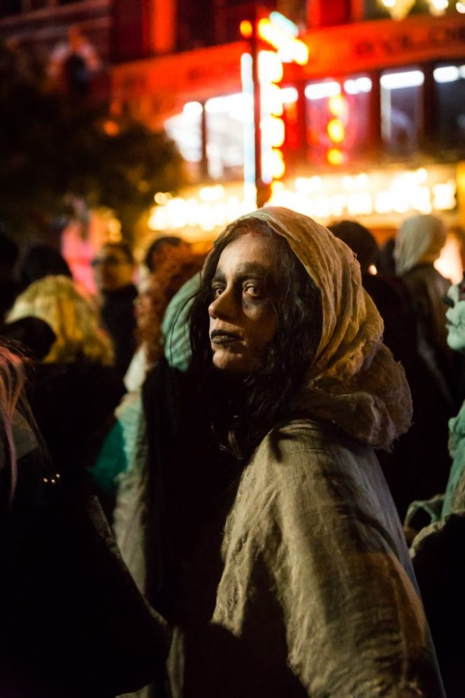 People in costume at the 44th annual Greenwich Village Halloween Parade
