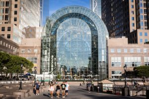 Exterior of Brookfield Place for an article on public atriums as an option for NYC photo shoot locations