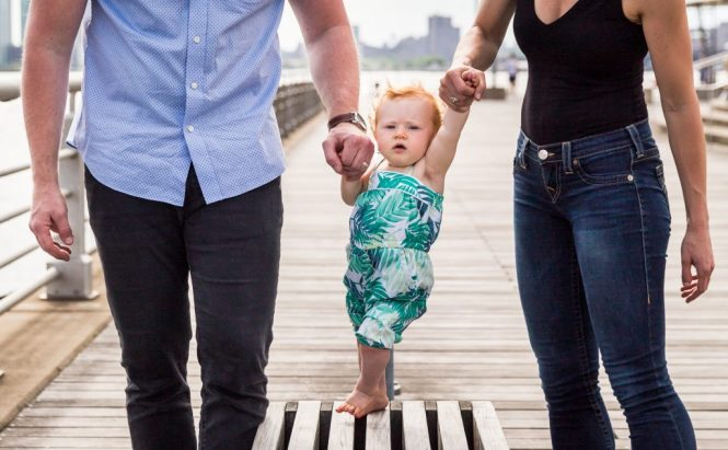 Baby in a Hudson River Park Family Portrait