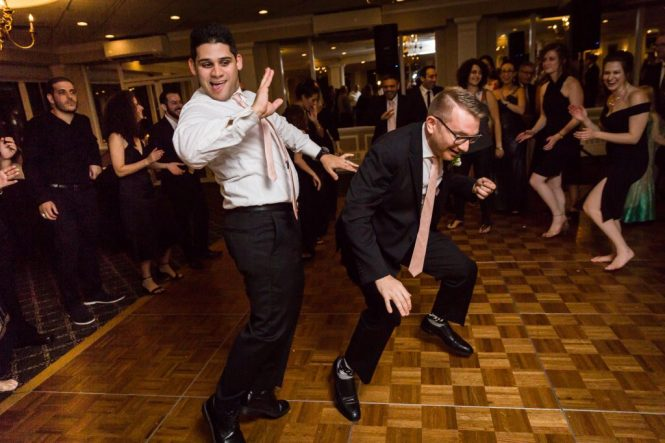Guests dancing at a Larchmont Shore Club wedding