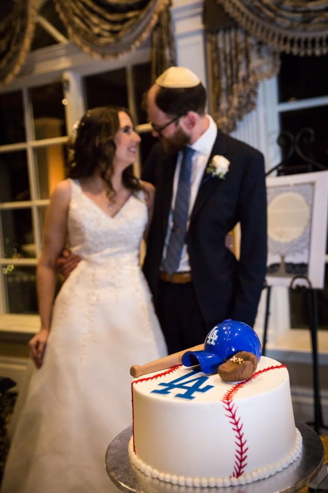 Baseball groom's cake for an article on band vs DJ