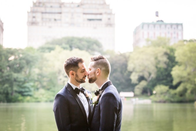Two grooms for an article entitled, 'Do you need a permit to get married in Central Park?'