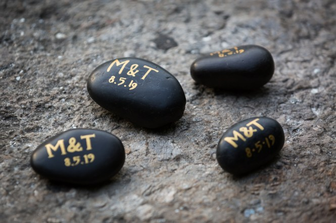 Engraved stones for an article entitled, 'Do you need a permit to get married in Central Park?'