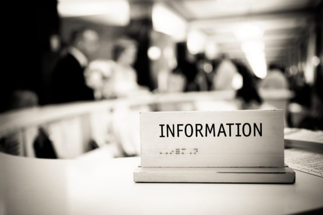 The information sign at a NYC City Hall wedding, by Kelly Williams
