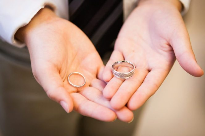 Wedding rings for a NYC City Hall wedding, by Kelly Williams