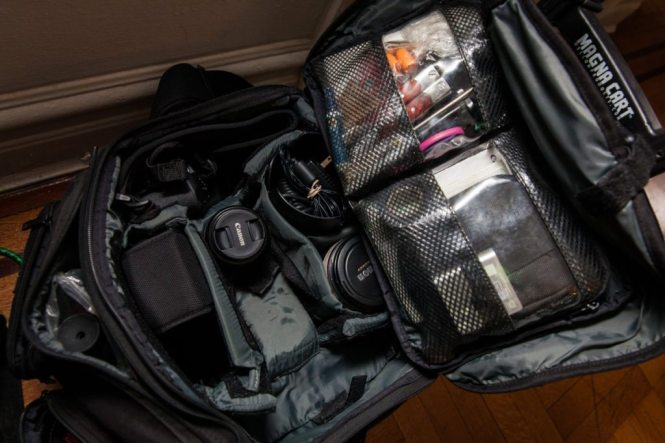 The camera kit of photographer Kelly Williams