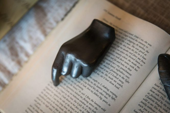 Detail of a graphite hand sold at the Oxford Exchange in Tampa, Florida