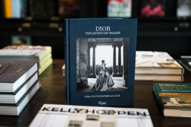 Detail of Dior book for sale at the Oxford Exchange in Tampa, Florida