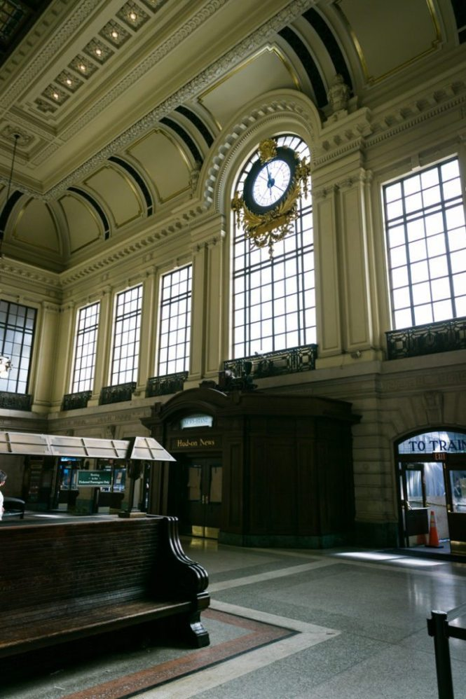 Photo of the Hoboken train station to accompany an article on venue checks by Hoboken wedding photographer, Kelly Williams