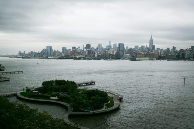 View of Manhattan from the W Hotel Hoboken, by Hoboken wedding photojournalist, Kelly Williams