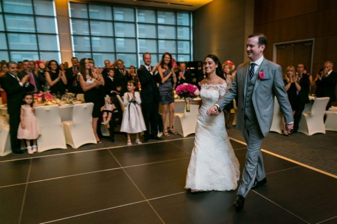 Portrait of the bride and groom by Hoboken wedding photojournalist, Kelly Williams