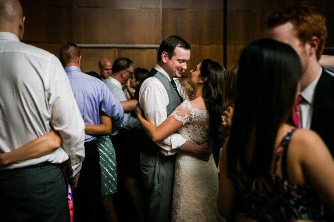 Wedding reception candid by Hoboken wedding photographer, Kelly Williams