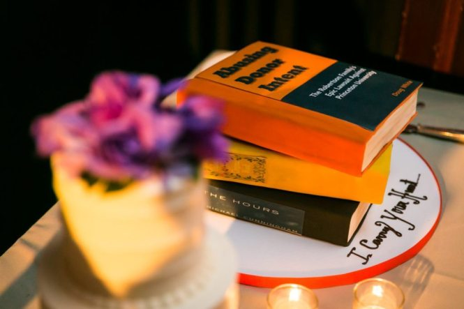 Wedding cakes from a Housing Works Bookstore wedding, by NYC wedding photojournalist, Kelly Williams
