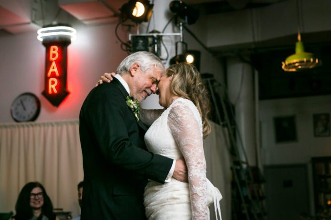 First dance photos from a Housing Works Bookstore wedding, by NYC wedding photojournalist, Kelly Williams