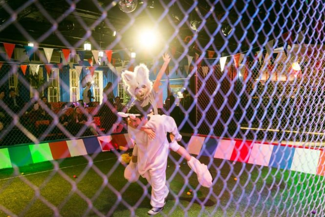 Full Bunny Contact event photographed by NYC photojournalist, Kelly Williams