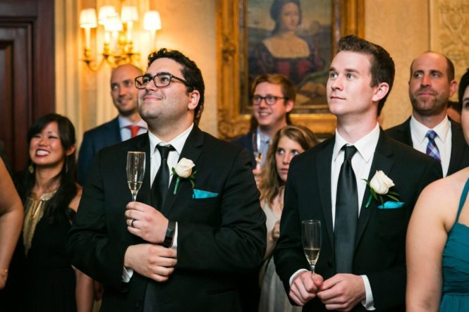 Toasts at a Columbus Citizens Foundation wedding by NYC wedding photojournalist, Kelly Williams