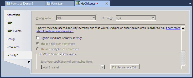 Walkthrough: Deploy ClickOnce Application as SharePoint 2010