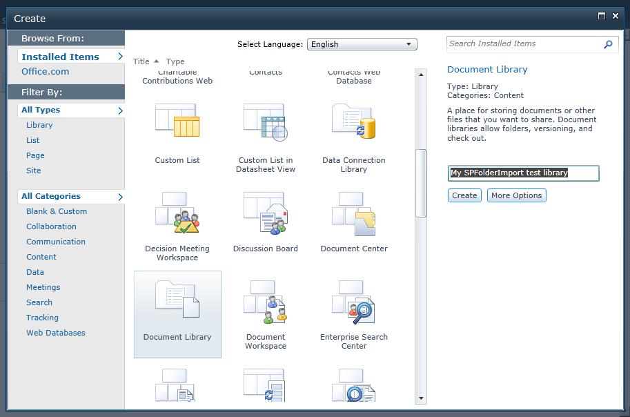 "PowerShell Script ""SPFolderImport"" for import a whole file"